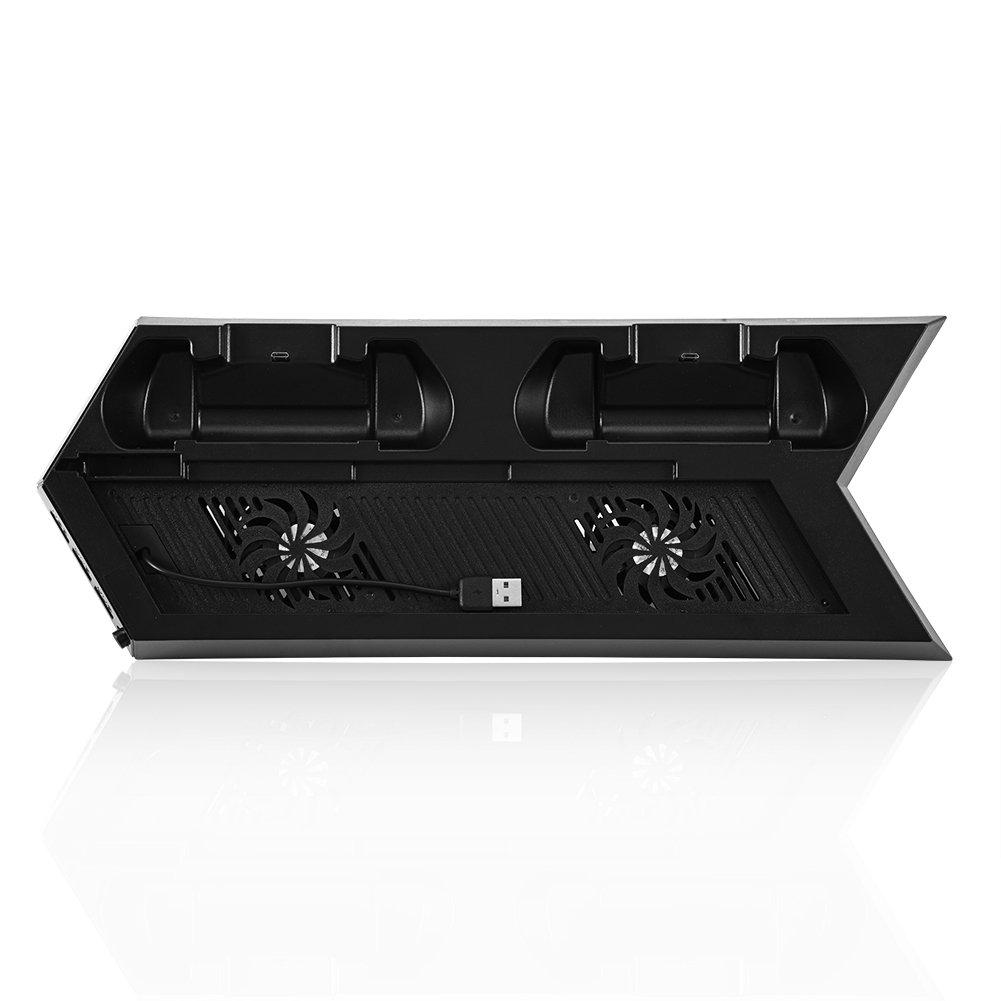 VBESTLIFE Enfriador de Ventilador de Refrigeració n USB Enchufe de Estació n de Carga Dual Soporte de 3 Puertos USB Hub para PS4 Playstation 4(Blanco)