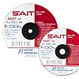 United Abrasives SAIT 23040 Type 1 A36T Fast Cut-Off Wheels, 3-Inch x 1/16-Inch x 3/8-Inch, 50-Pack