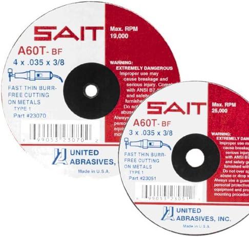 United Abrasives-SAIT 56233 SAIT-Lok 3ZH 3-Inch 80X Laminated Disc 50 Pack