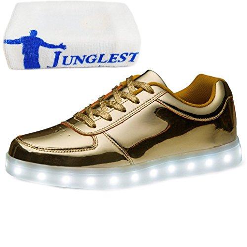 présent Junglest® Or A Femmes Chaussures Lumière Serviette En Hommes Conduit Usb Des Petite Charge La r4pxgr