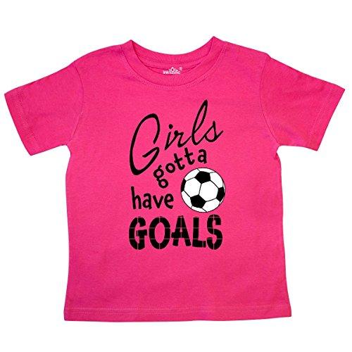 inktastic - Girls Gotta Have Goals- Soccer Toddler T-Shirt 3T Hot Pink 2c19e