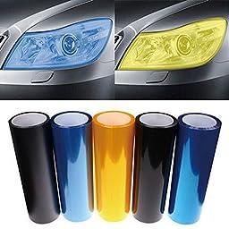 DIYAH 12 X 48 Inches Self Adhesive Headlight, Tail Lights, Fog Lights Tint Vinyl Film (Light Blue)