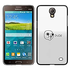 Stuss Case / Funda Carcasa protectora - Dude Face - Lol Roll Wtf Meme - Samsung Galaxy Mega 2