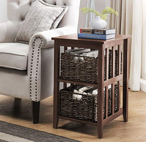 2L Lifestyle Greenville Side Table, Brown