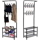 Sungle?? Metal Multi-purpose Clothes Coat Stand Shoes Rack Umbrella Stand (Black) by Sungle??