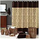 brown shower curtains. DS BATH Sterling Brown Shower Curtain,Chocolate Polyester Fabric Curtain,Vintage Curtains