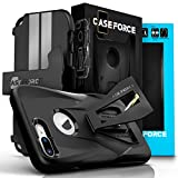 iPhone 7 Plus Case, CASE FORCE [Velocity Series] World's First High Velocity Impact Resistance Case, Built-in Kickstand + Swivel Belt Clip Holster + Screen Protector For iPhone 7 Plus (Black/Black) (Wireless Phone Accessory)