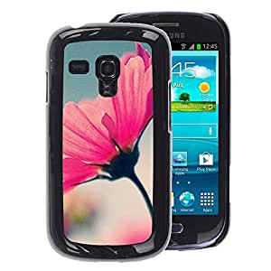 A-type Arte & diseño plástico duro Fundas Cover Cubre Hard Case Cover para Samsung Galaxy S3 MINI 8190 (NOT S3) (Spring Flower Summer Focus Blurry Blue)