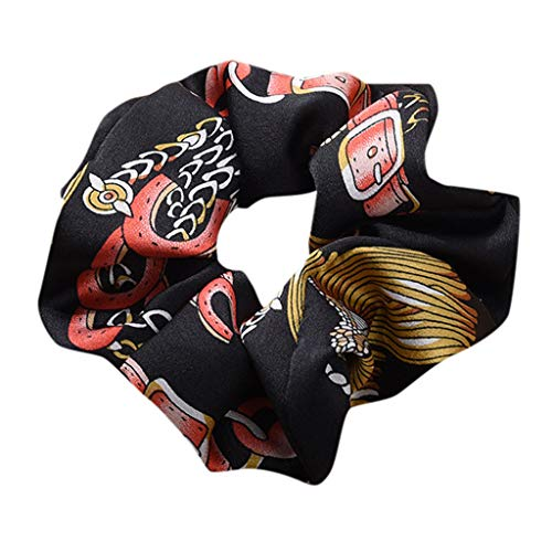 (hositor Black Headband, Women Elastic Hair Rope Ring Tie Scrunchie Ponytail Holder Hair Band Headband)