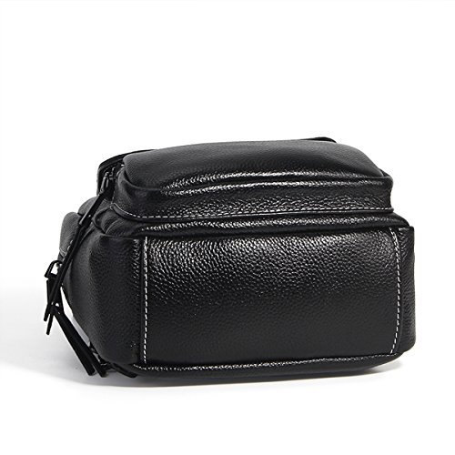 Backpacks Dissa LF Bag Fashion Fashion Women Handbag Shoulder 1906 Black Design Leather Elegant 16qv41H