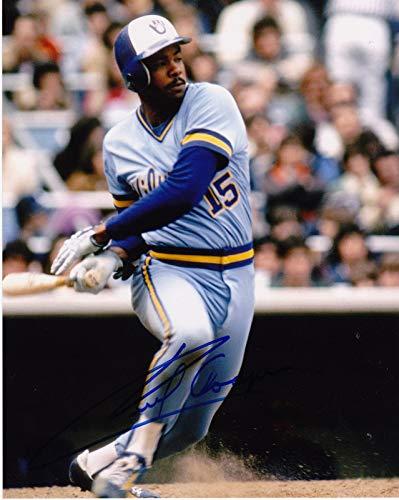 Autographed Cecil Cooper Photograph - 8x10 - Autographed MLB Photos