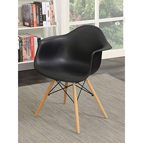 Furniture of America Ashton Mid-Century Arm Chair (Set of 2) in Black ()