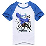 AnimeTown Kagerou Project Mekakucity Actors Costume Anime Short Sleeves Tee T-Shirt (L, Blue and White)