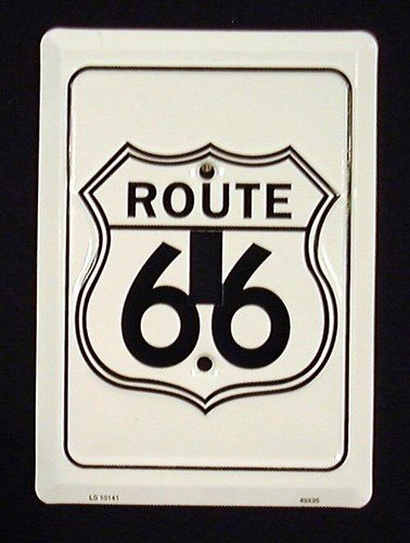 Route 66 Metal Novelty Single Light Switch Cover Plate - 66 Light Switch Route