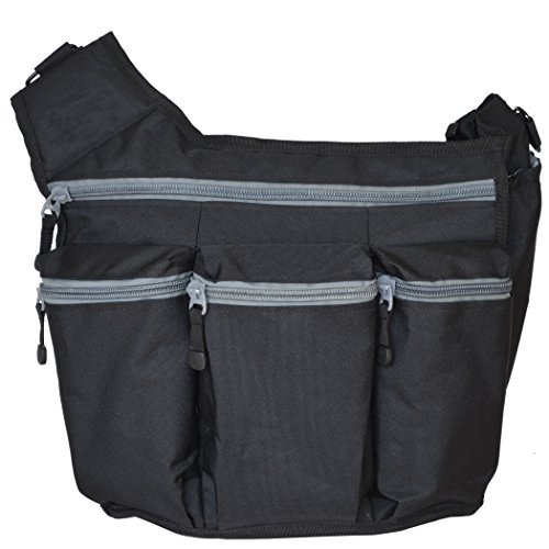 diaper-dude-messenger-diaper-bag-for-dads-black-with-gray-zippers