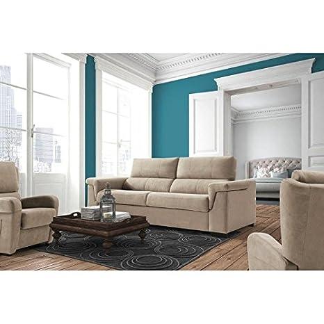SHIITO Sofá Cama con Sistema de Apertura Italiano tapizado en Color Beige: Amazon.es: Hogar