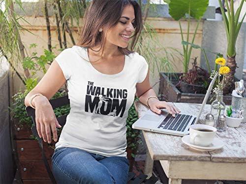 Ultrabasic - Damska Rundhals T-Shirt Walking Mom T-Shirt für Mütter: Odzież