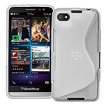 "5"" Blackberry Z30 Cover , Skypillar Canada Flexible Soft TPU Silicone Rubber Case - Clear"