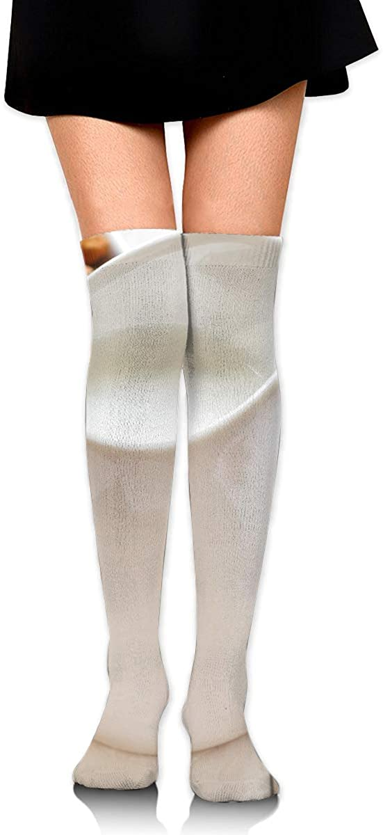 High Elasticity Girl Cotton Knee High Socks Uniform Nut And Music Women Tube Socks