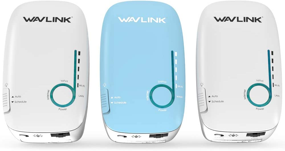 WAVLINK Whole Home WiFi Mesh System,AC1200 Gigabit Smart Mesh Wi-Fi Router Dual Band Wall-Mounted with Patent Touchlink Technology (3-Pack) for 3000 sq.ft Coverage