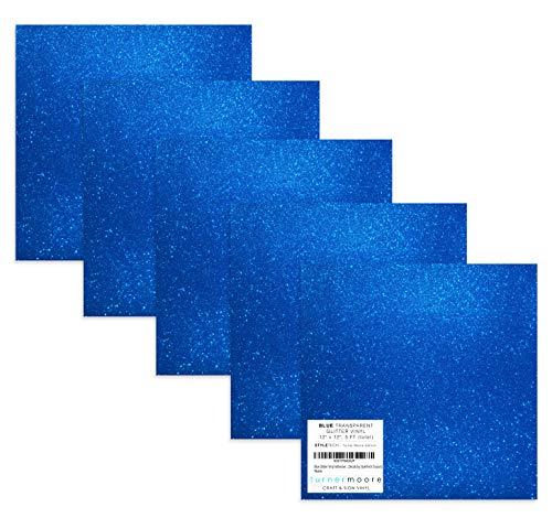 Turner Moore Edition, Blue Glitter Vinyl Adhesive - 12