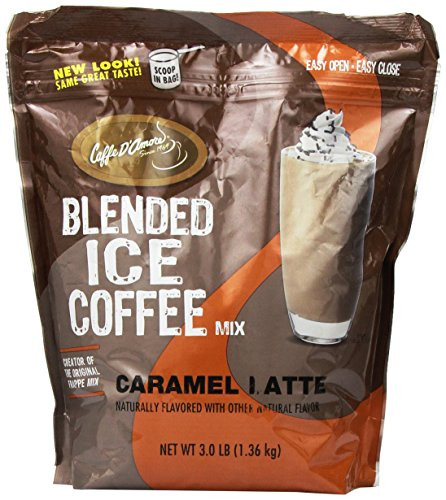 DaVinci Blended Ice Coffee Mix, Caramel, 3 Pound Bag