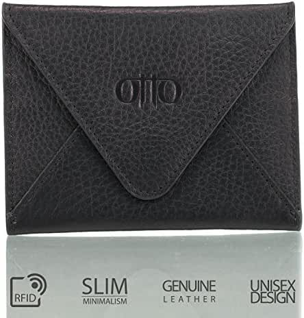 Otto Genuine Leather Wallet - Multiple Slots |Money, ID, Tickets, Cards, RFID Blocking| Unisex