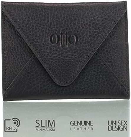 Otto Genuine Leather Wallet - Multiple Slots |Money, ID, Tickets, Cards, RFID Blocking| Unisex