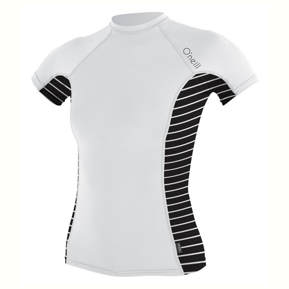 O ' NeillレディースSide Print S / Sクルーウェットスーツ B01MR7H9IM M|White/Coastal-Black