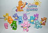 Care Bears Deluxe Party Favors Goody Bag Fillers Set of 12 Figures with baby Wonderheart Bear