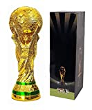 Tankership 2018 World Cup Trophy Replica Soccer Fans Souvenir with Color Box - 14 Inch Tall