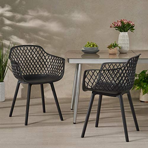 Christopher Knight Home 312471 Delia Outdoor Dining Chair Set of 2