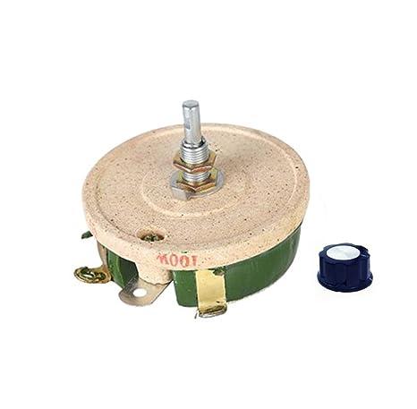 amazon com yxq 100w 10 ohm sliding rheostat ceramic disk variableamazon com yxq 100w 10 ohm sliding rheostat ceramic disk variable resistors home \u0026 kitchen