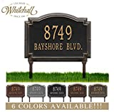 Personalized Cast Metal Address plaque - LAWN MOUNTED Williamsburg Plaque. Display your address and street name. Custom house number sign.
