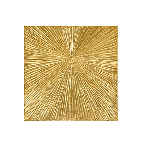 MADISON PARK SIGNATURE Sunburst Wall Art - Modern Resin Dimensional Radiant Color Home Décor Abstract Metallic Textured on Palm Deco Box, Gold