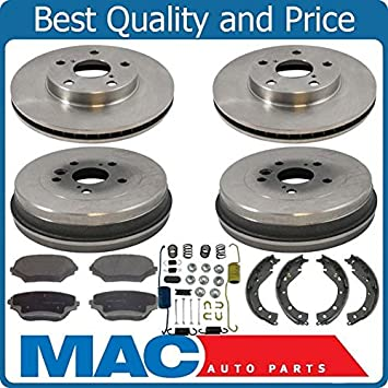 WC /& Hardware For Toyota Corolla 2009 to 2013 Rear Brake Drums Brake Shoes