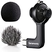 Saramonic G-Mic Stereo Ball Microphone with Foam & Furry Windscreens for GoPro HERO3, HERO3+ and HERO4