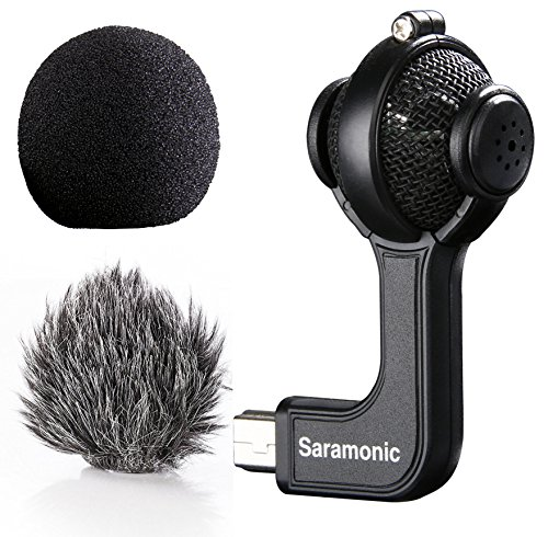 Saramonic G-Mic Stereo Ball Microphone with Foam & Furry Windscreens for GoPro HERO3 - HERO3+ and HERO4
