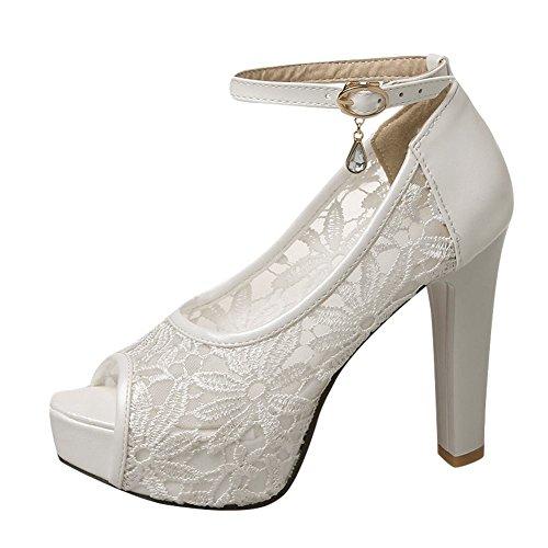 Estate Sandali Bianco Donna MissSaSa Matrimonio Elegante U5fwf7