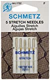 11 75 sewing machine needles - Schmetz 1722 Stretch Needles, 130/705 H-S 75/11, 5 per pack