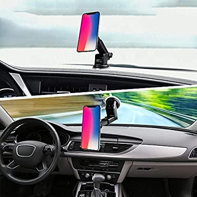 Car Mount for Pops Users, 360° Rotation Air Vent Pops Out Stand Car Mount Compatible with GPS Navigation or Any Phone with Pops Grips (Black02) …