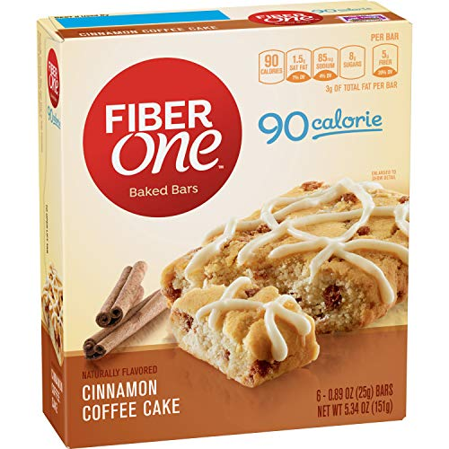 Fiber One 90 Calorie Bar Cinnamon Coffee Cake 6 Count
