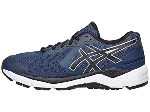 ASICS Men's Gel-Foundation 13 Running Shoe, Dark Blue/Black/White - 14 D(M) US