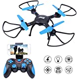 Dwi Dowellin FPV Drone 720P HD Camera RC Quadcopter Altitude Hold 3D Flips Rolls Remote Control One Key Take Off Landing Return Headless Mode