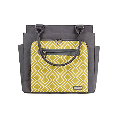JJ Cole Freeman Baby Diaper Bag Citrine Lattice with Changin