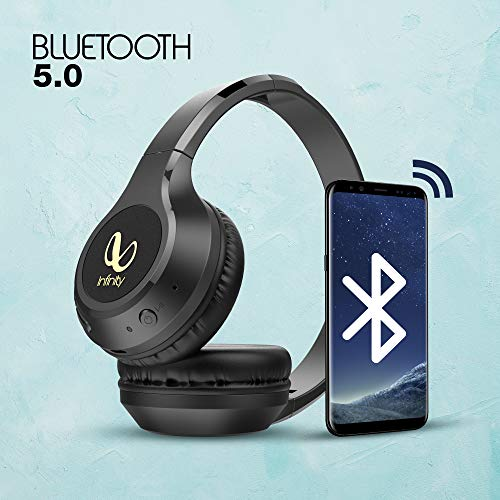 Infinity Glide 500 by Harman, 20 Hrs Playtime with Quick Charge, Wireless On Ear Headphone with Mic, Deep Bass, Dual Equalizer, Bluetooth 5.0 with Voice Assistant Support for Mobile Phones (Black)