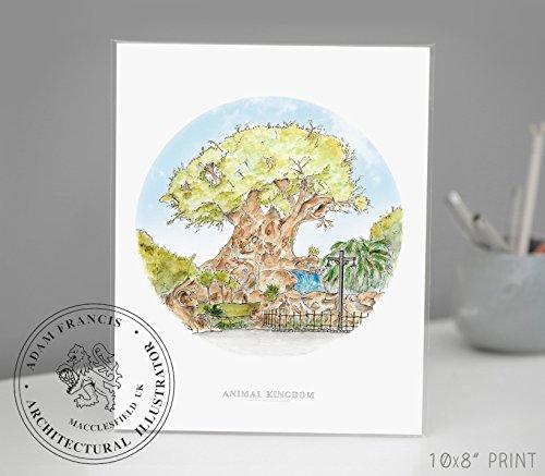 Animal Kingdom | Tree of Life | Disney Art | Art prints | Home Decor | Wall Art. High Quality Prints taken from my Original Detailed Illustration & Watercolor.