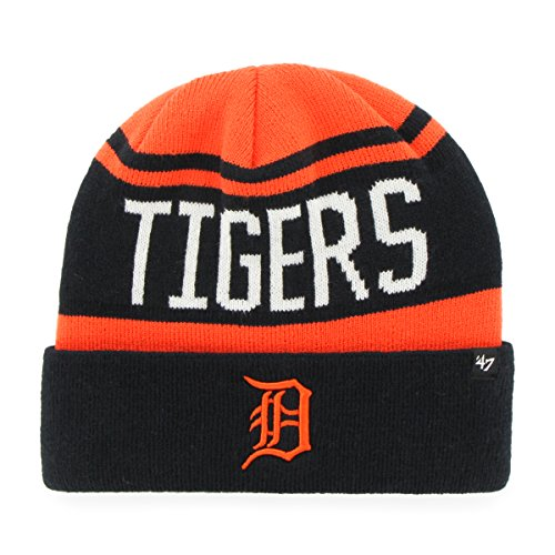 Mlb Detroit Tigers 47 Rift Cuff Knit Beanie  One Size  Orange