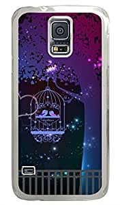Tree Birdcage PC Transparent Hard Case Cover Skin For Samsung Galaxy S5 I9600