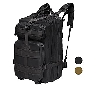 40L Military Tactical Backpacks 3 Day Assulat Pack Molle Bug Out Bag for Outdoor Hiking Camping Trekking Hunting Black